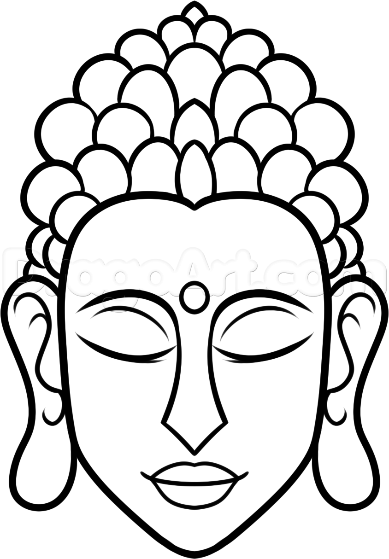 844x1214 How To Draw Buddha Easy Step 7 Art Buddha, Easy