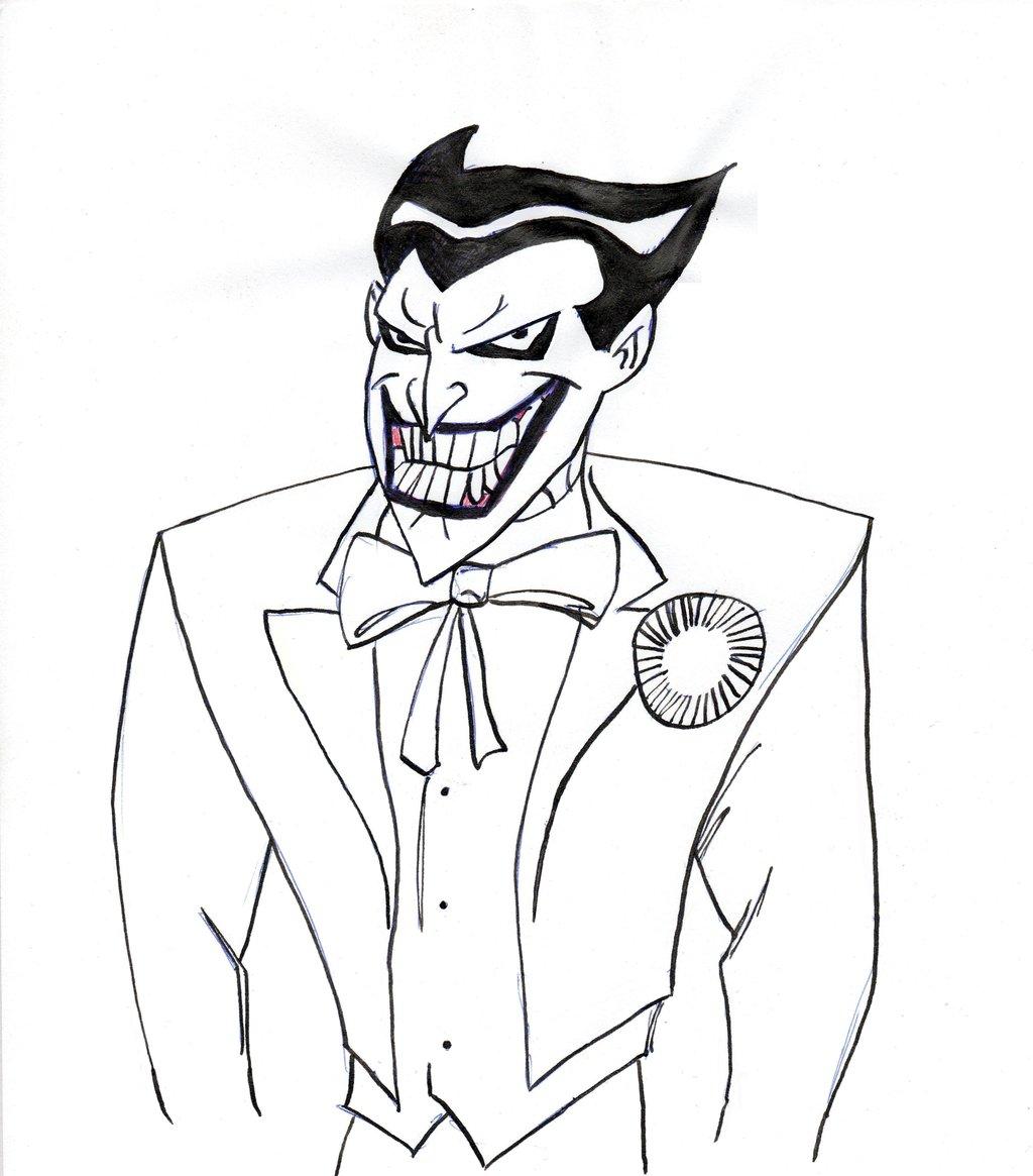1024x1165 Joker Cartoon Drawings Joker In Black And Whitelonely29archer