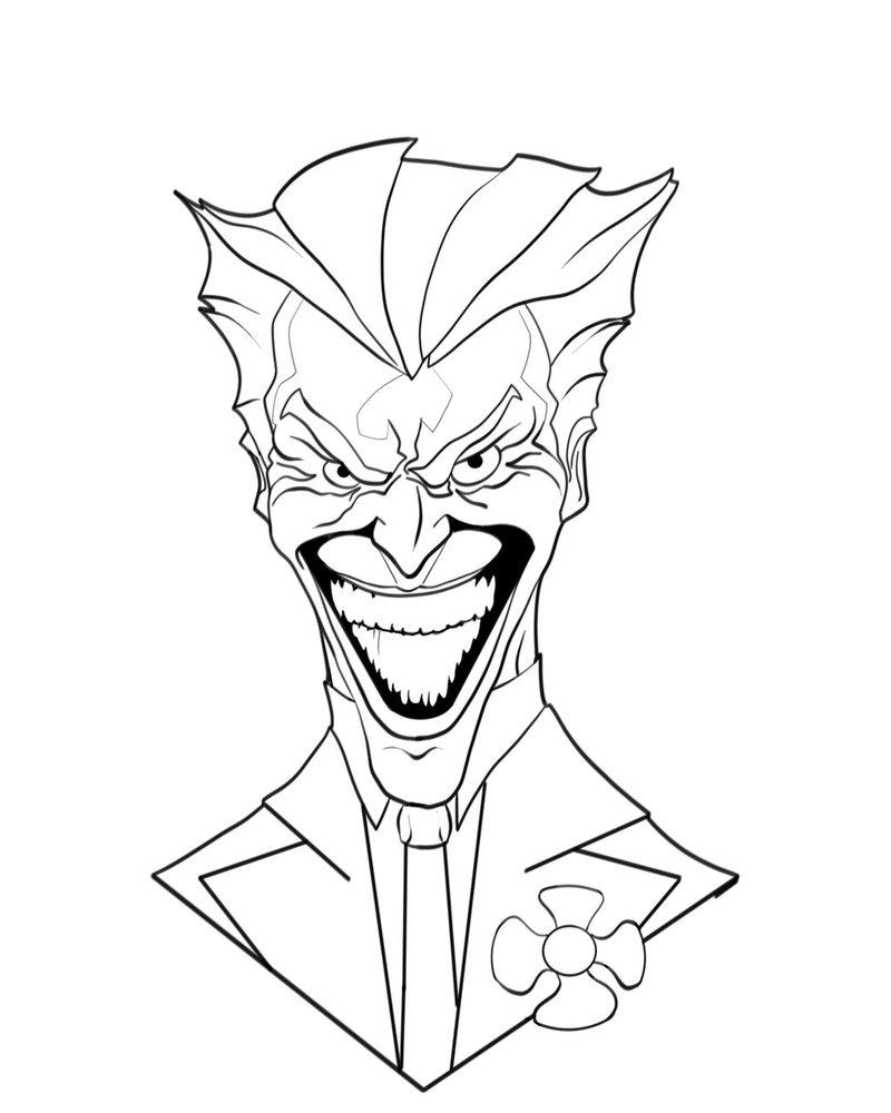 800x1000 Joker Line Art By Jamart2013