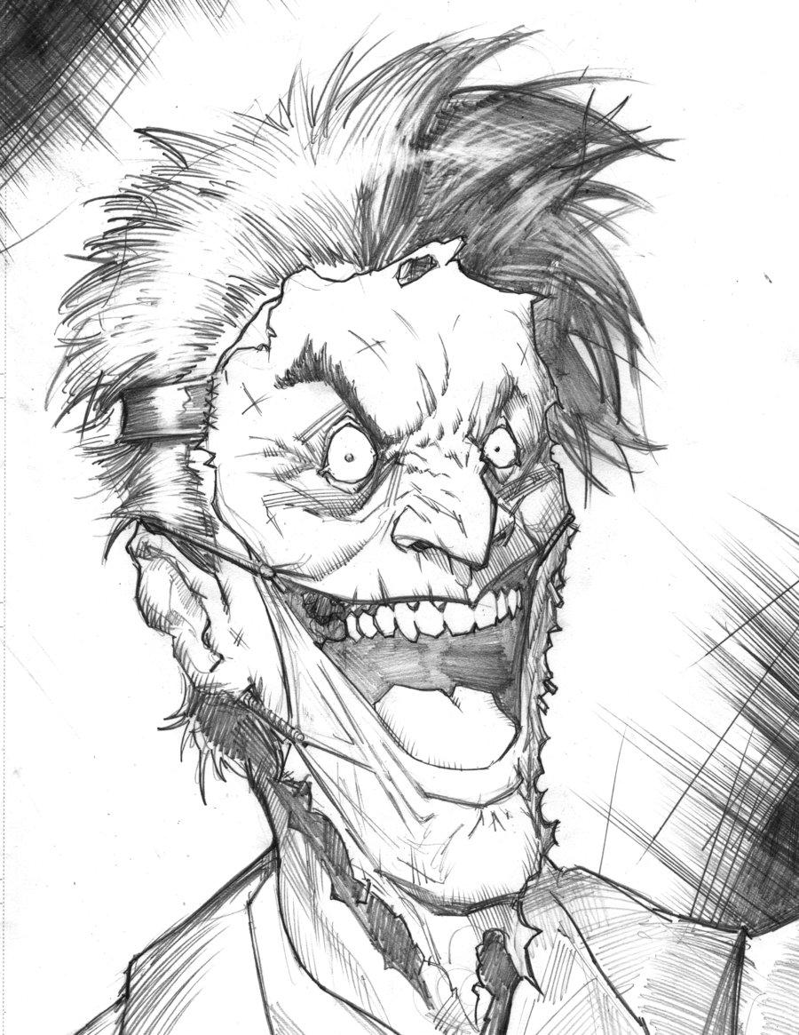 900x1165 Joker Face Sketch By Freddylupus