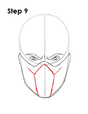 300x388 How To Draw Sub Zero (Mortal Kombat)