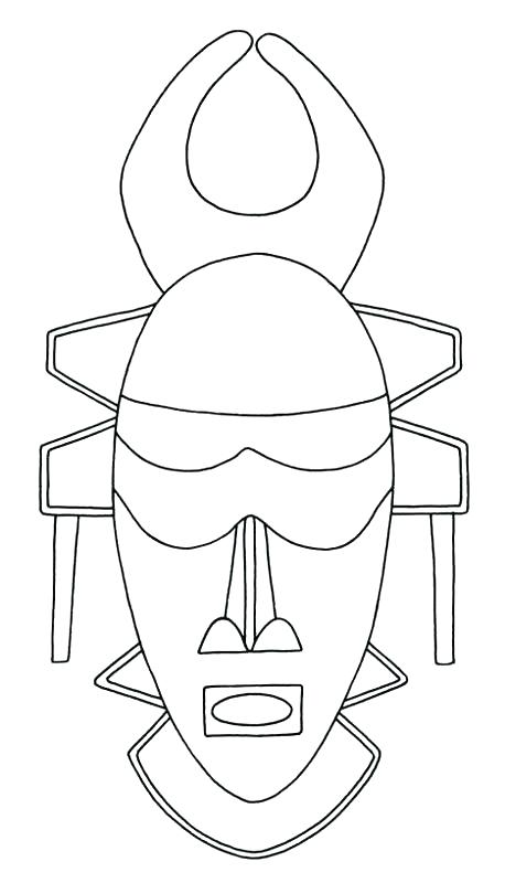 458x800 Amazing African Masks Coloring Pages Free Download Mask Page