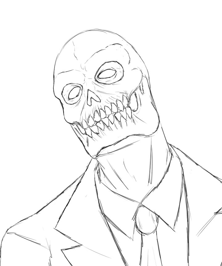 720x864 Black Mask Sketch By Contentialchampion