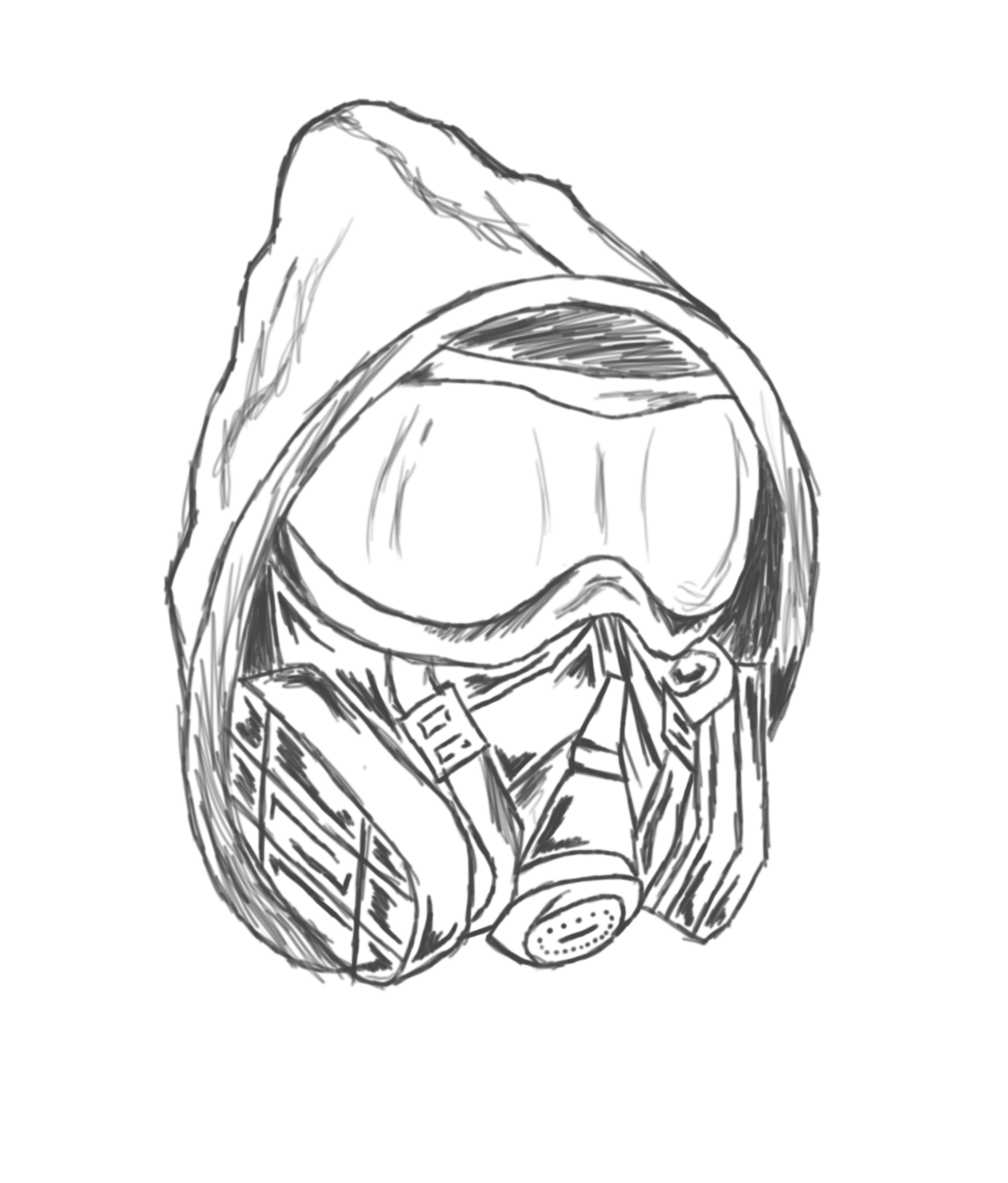 2041x2394 Graffiti Gas Mask Drawing Drawn Gas Mask Music
