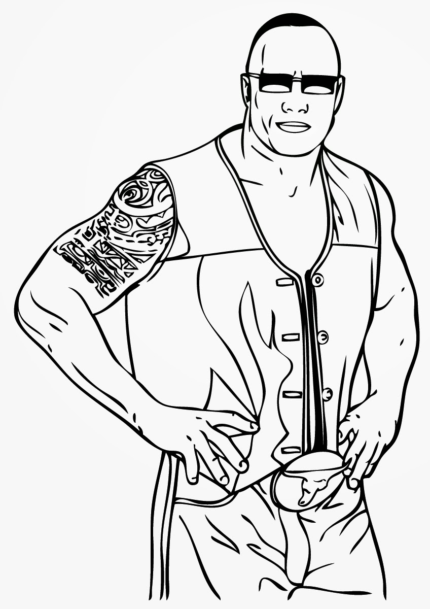 848x1200 Coloring Pages Cute Wwe Coloring Pages 2 The Rock Wwe Coloring