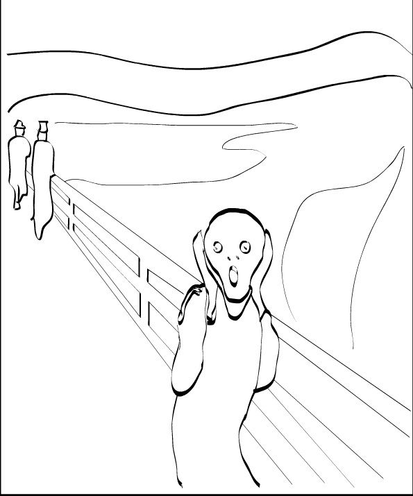 The Scream Drawing