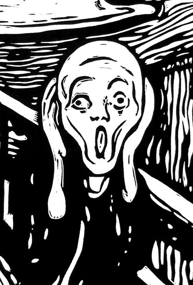390x576 The Scream After Munch Carlos Barberena