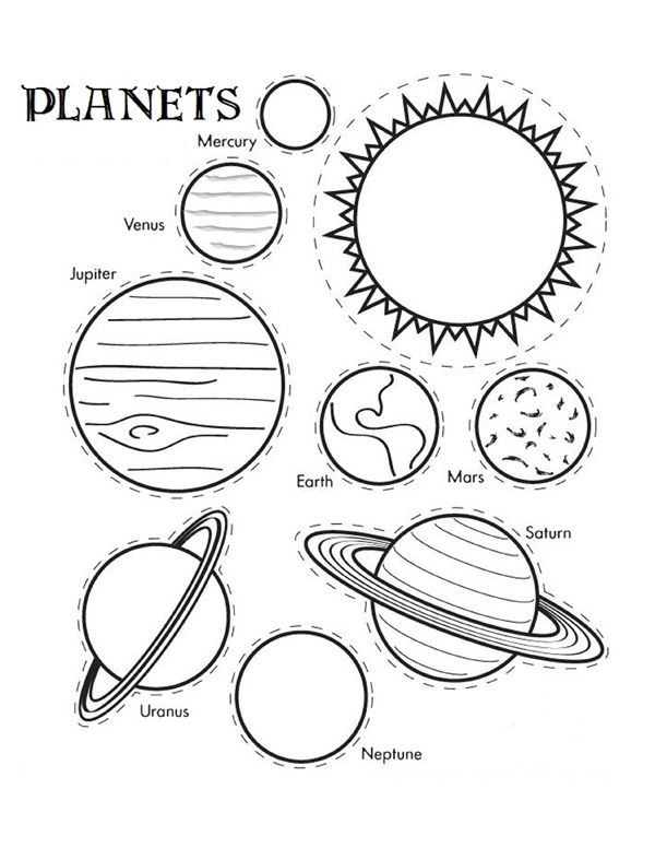 600x776 Solar System Coloring Pages Download Preschool For Beatiful Draw