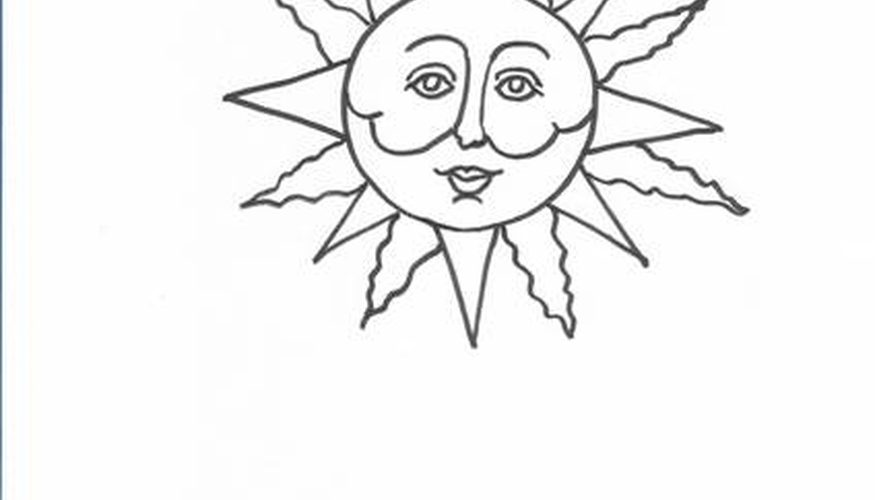877x500 How To Draw Sun Faces Our Pastimes