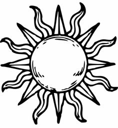 236x256 Simple Sun Drawing Black And White