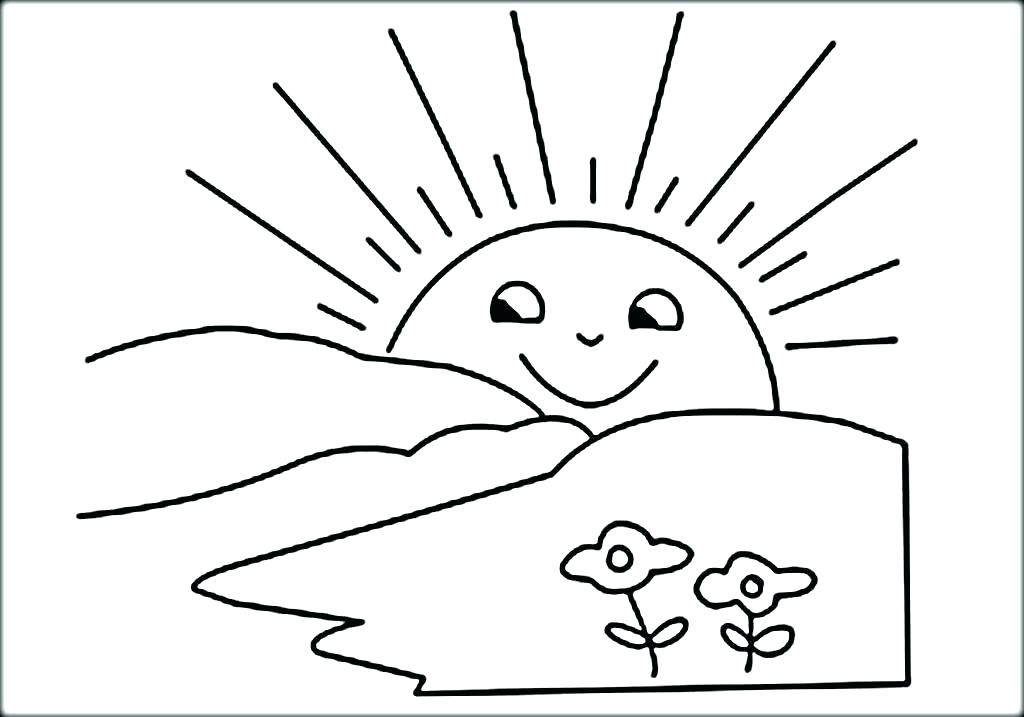1024x717 Sun Coloring Pages Joandco.co