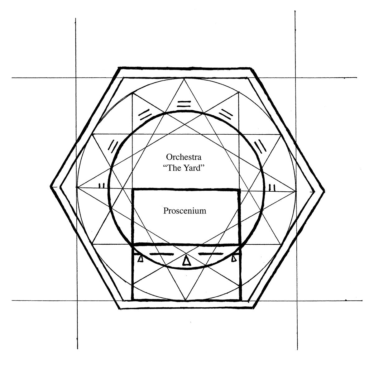 1200x1200 Illustration, Ground Plan Of Globe Theatre Exemplar Fragmentorum