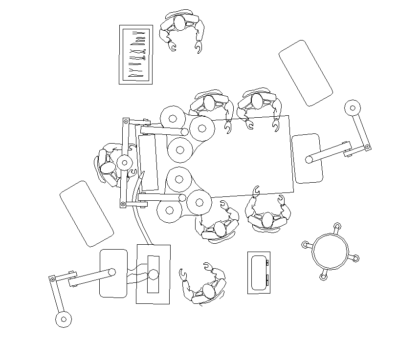 859x696 Operating Theatre Cad Layout Dwg