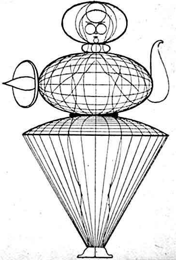 364x536 Sketch Of A Costume For The Bauhaus Theatre By Oskar Schlemmer