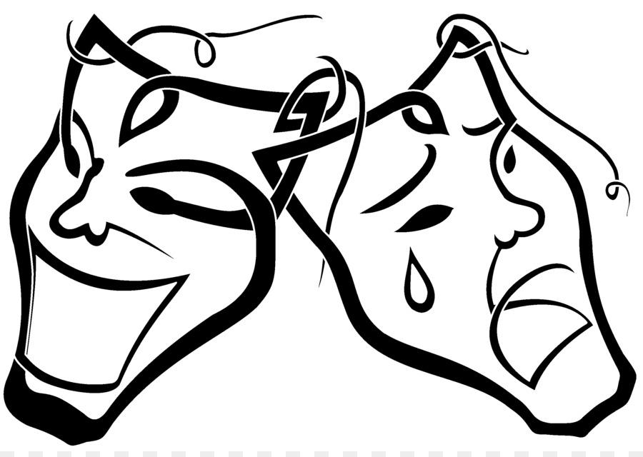900x640 Theatre Mask Drawing Drama Clip Art