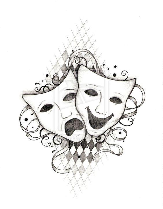 564x723 Greek Theatre Masks Tattoo
