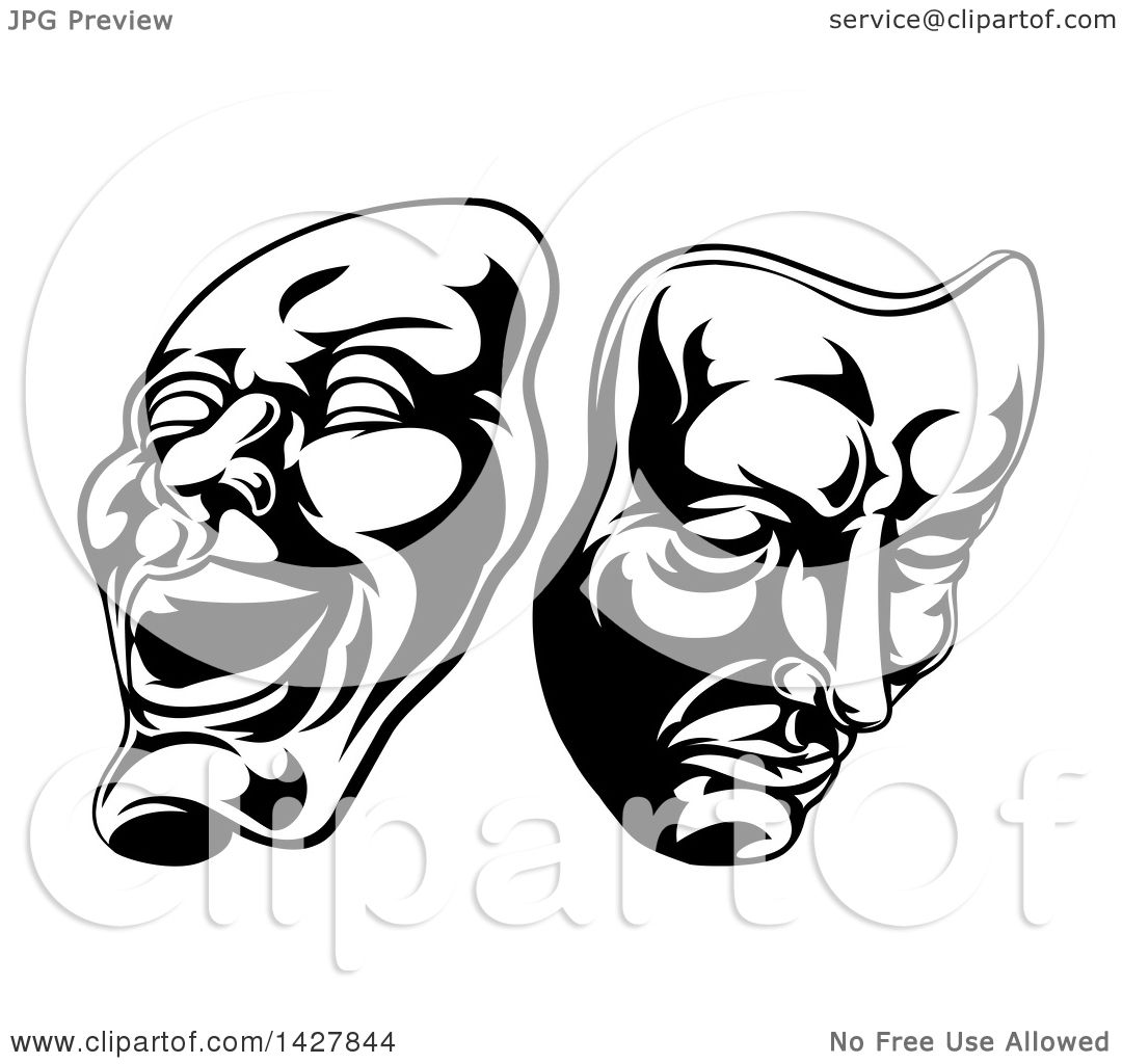 theatre masks drawing at getdrawings com free for personal use