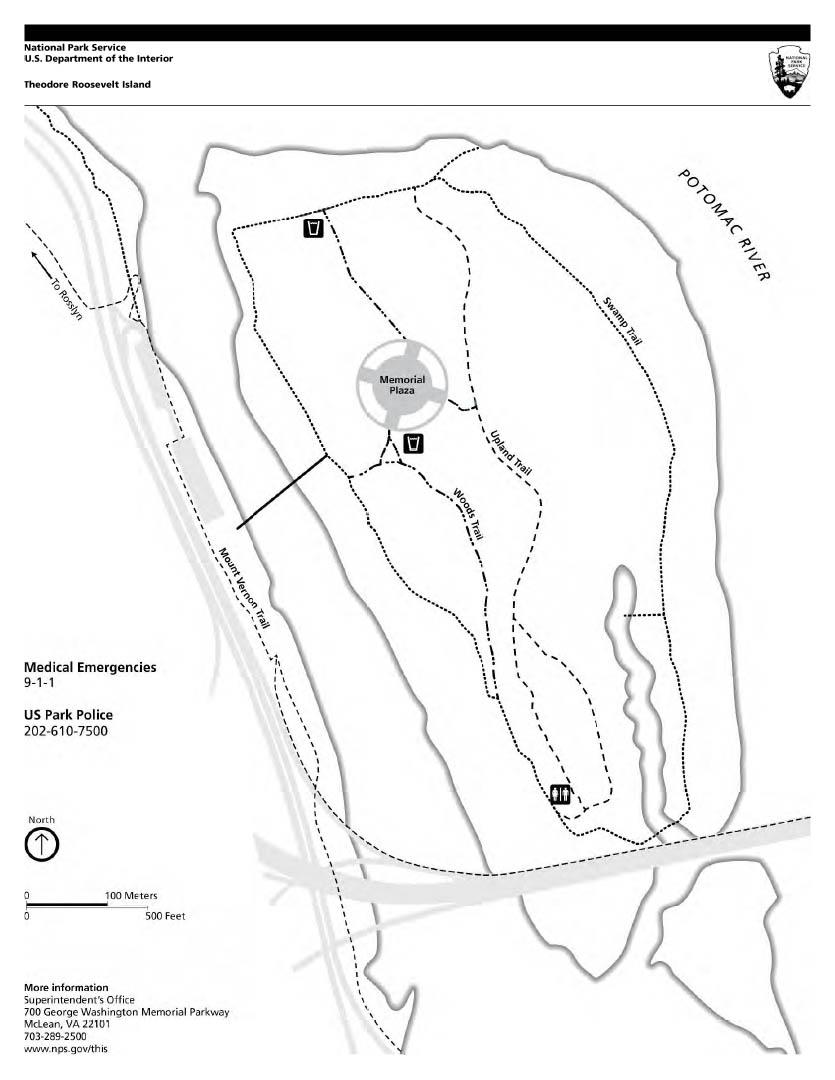 835x1080 Theodore Roosevelt Island Park Map