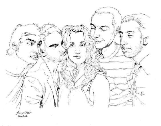 564x442 Big Bang Theory Characters Pencil Drawings Big