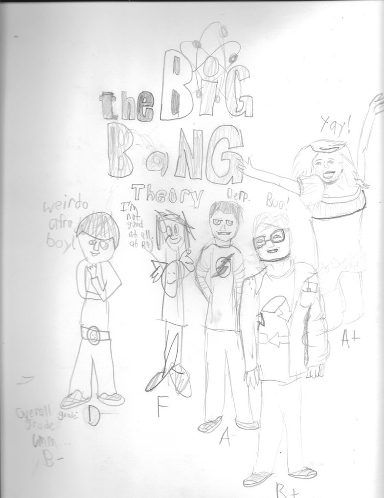 785x1018 Big Bang Theory Cast (Realistic Drawing Test) By Wolfheart4899