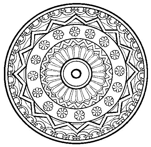 500x484 Art Therapy Mandalas, Alot To Choose From. Great Stress Therapy