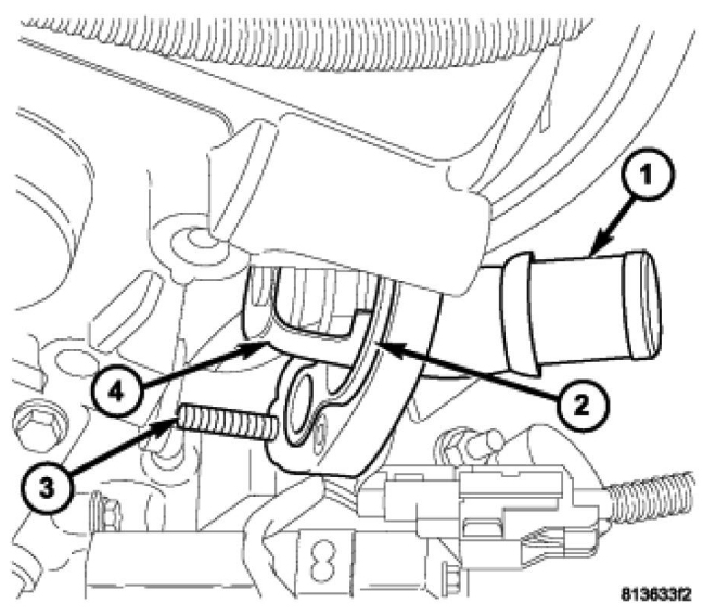 the best free thermostat drawing images download from 50 free 1991 Jeep Wrangler Fuse Box Diagram 660x568 how to replace a thermostat housing seal gasket on a dodge