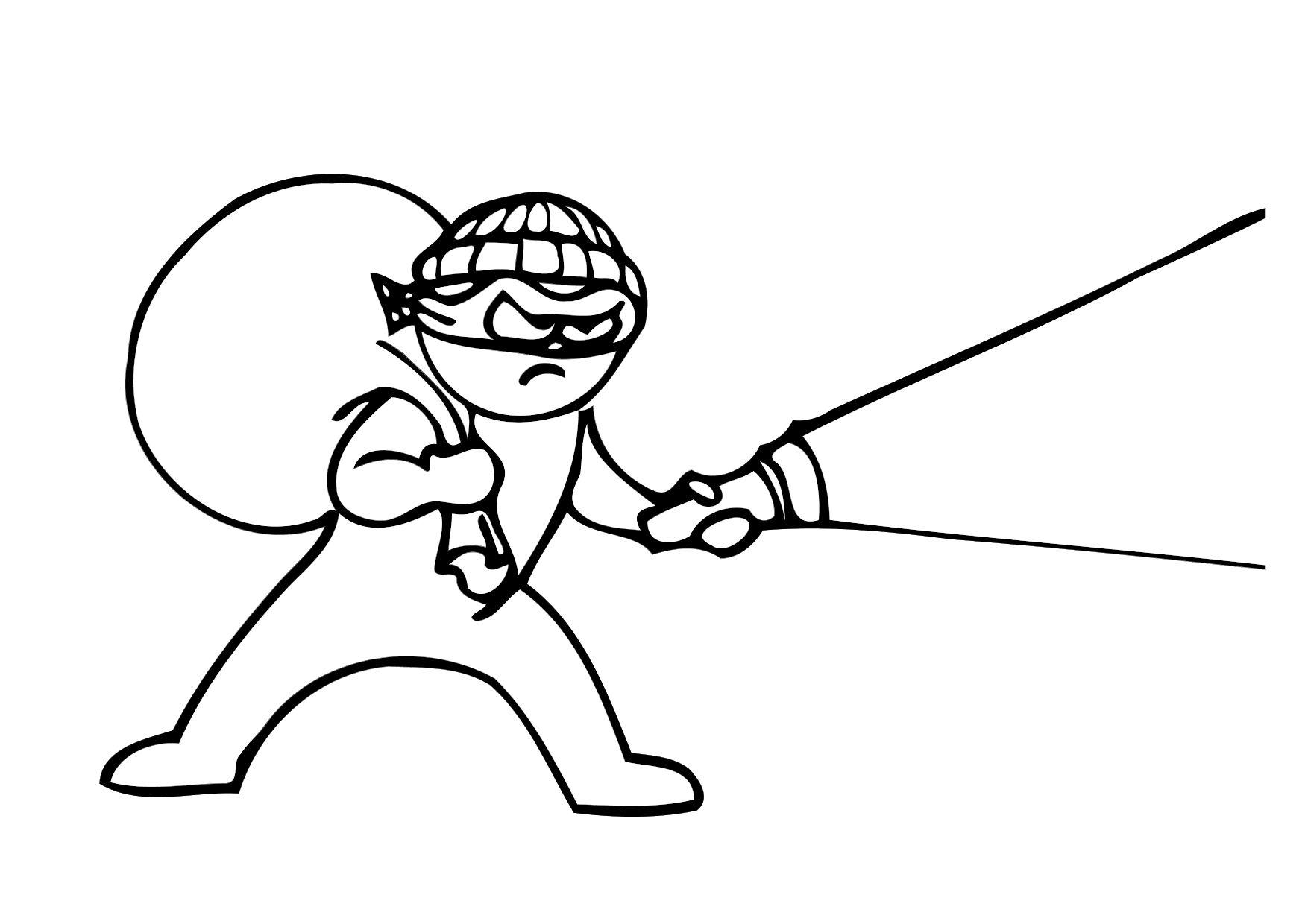 1750x1240 Coloring Page Thief