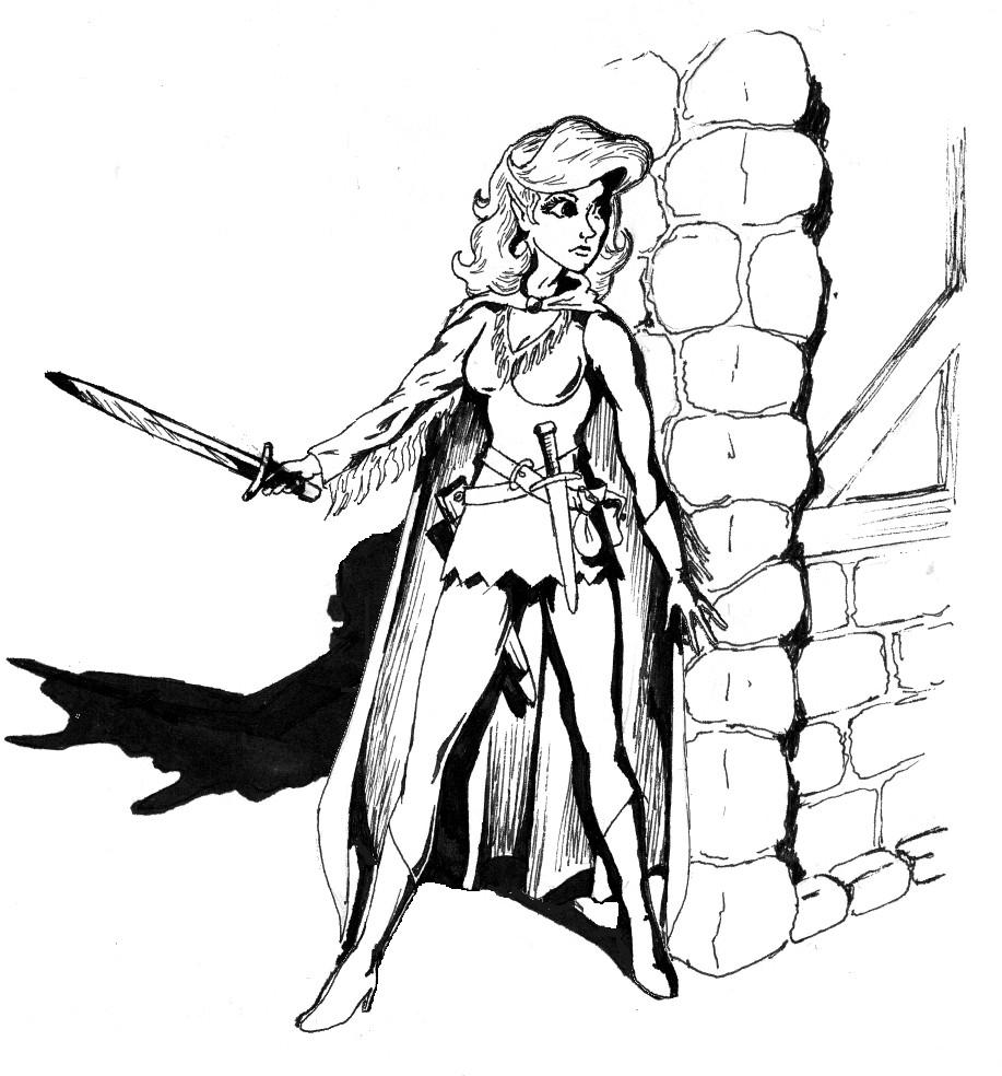 917x984 Elf Thief By Kregorranger