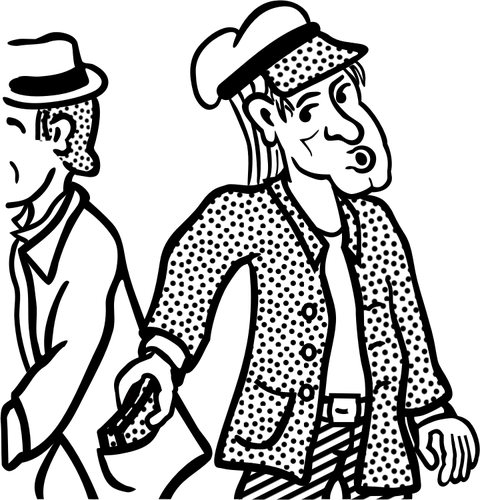 480x500 Vector Drawing Of Pocket Thief Public Domain Vectors