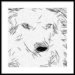 250x250 The Dog Thinker Drawing By Jonathan Harnisch