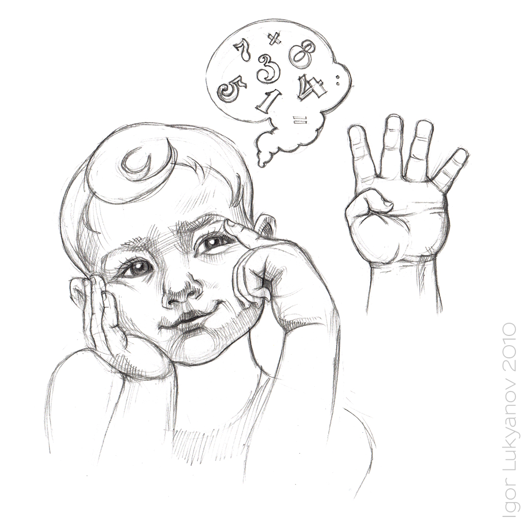 1024x1024 A Thinking Boy Sketch
