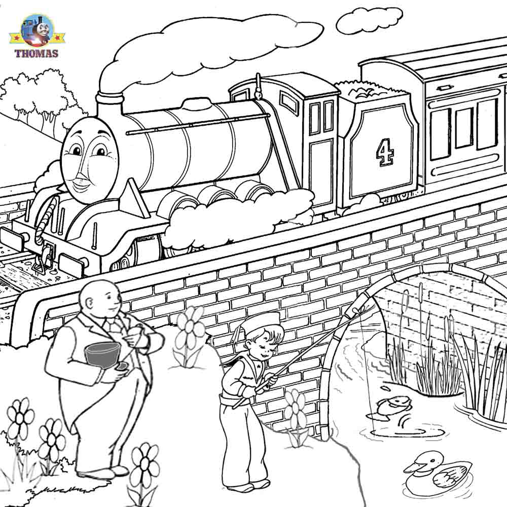 1000x1000 Free Online Coloring Thomas And Friends Clipart Printable Pictures