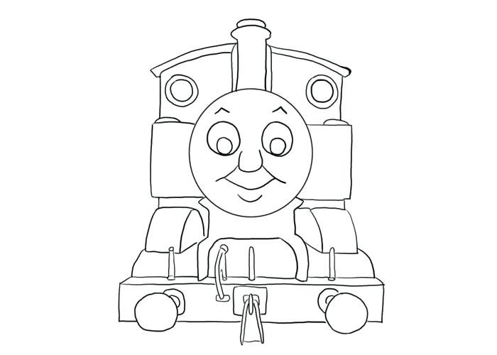 700x500 Thomas The Tank Engine Coloring Page The Train Tank Engine