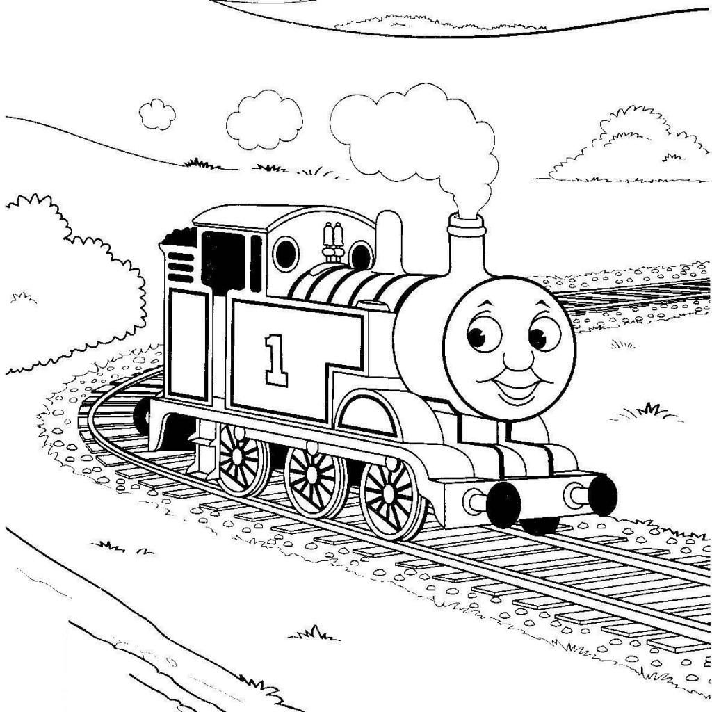 1024x1024 Thomas Tank Engine Coloring Pages Free Printable Thomas