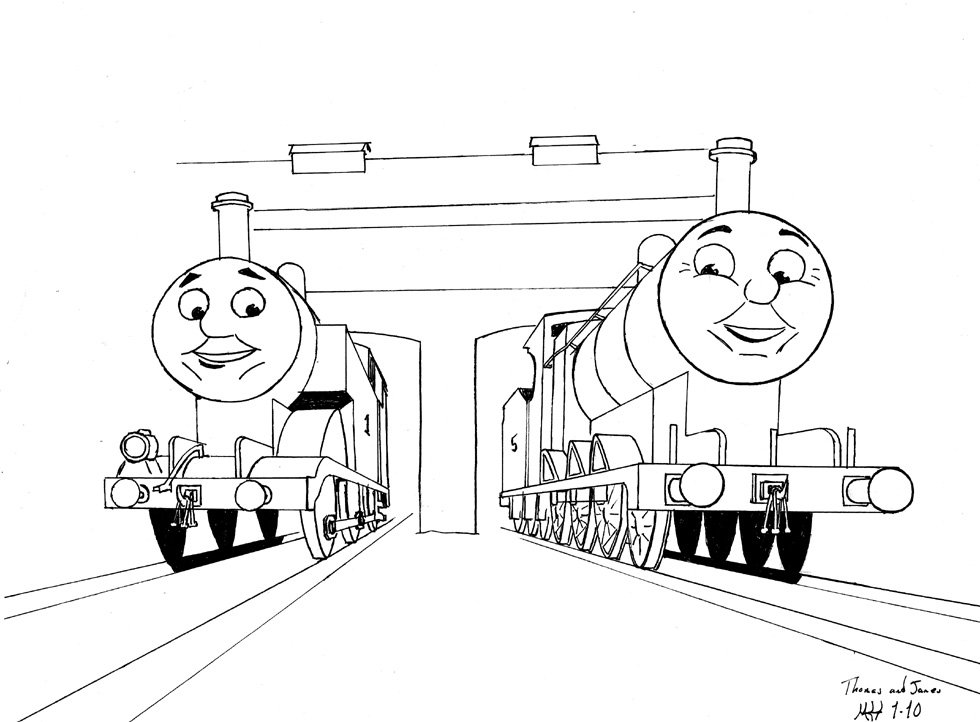 980x722 Thomas And James Resting By Dragonwolface