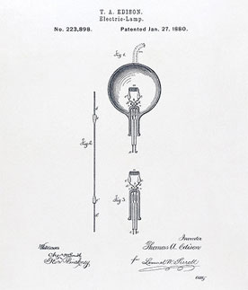 Thomas Edison Light Bulb Drawing