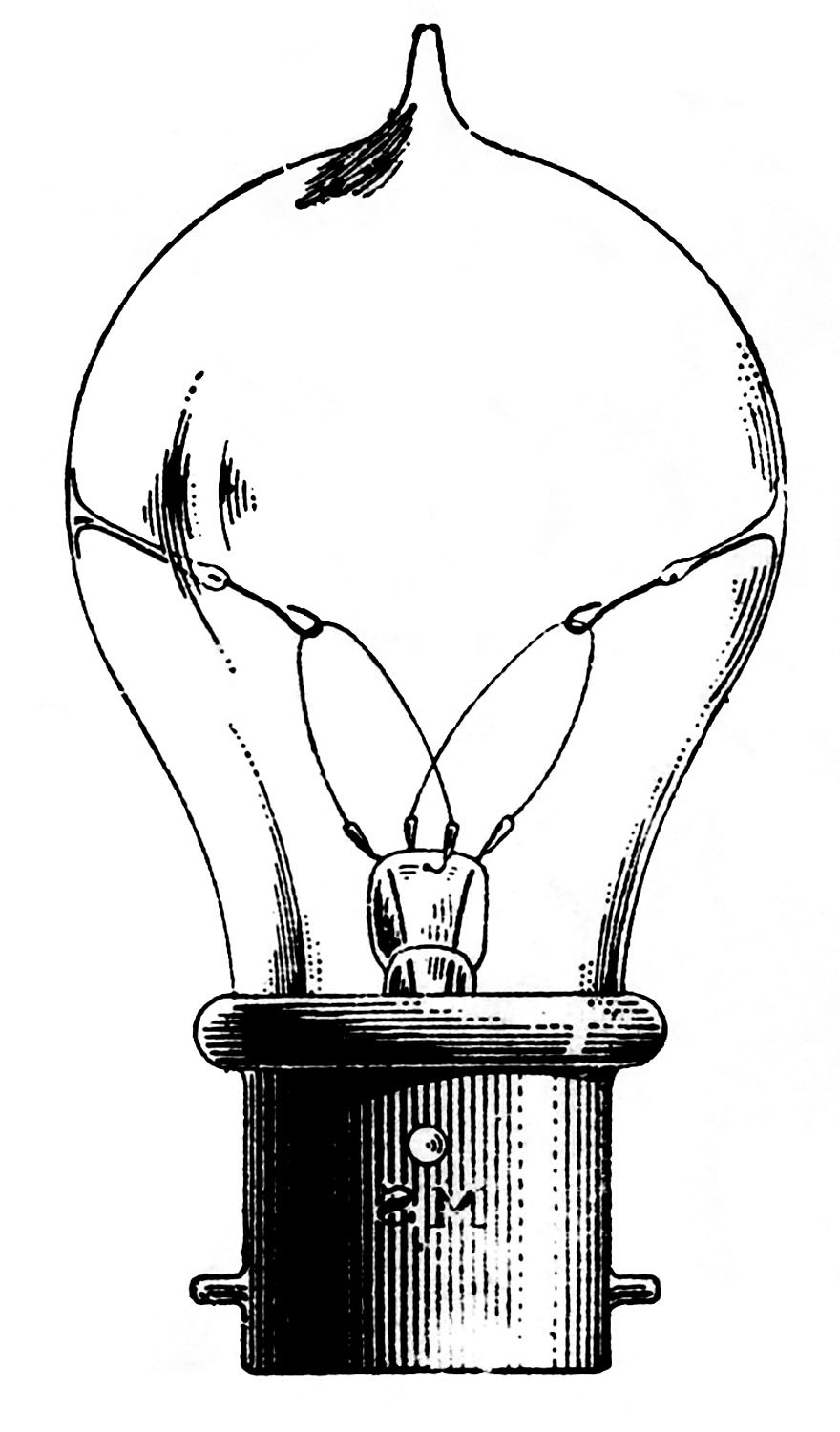 thomas edison light bulb drawing at getdrawings com