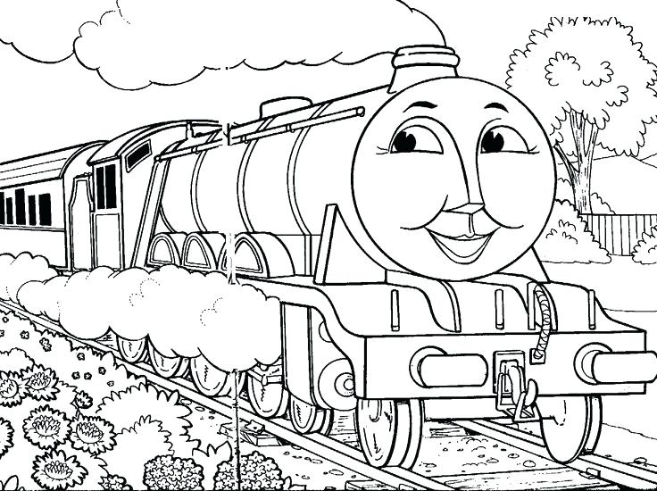 736x550 Thomas Train Coloring Pages The Train Face Train Coloring Pages