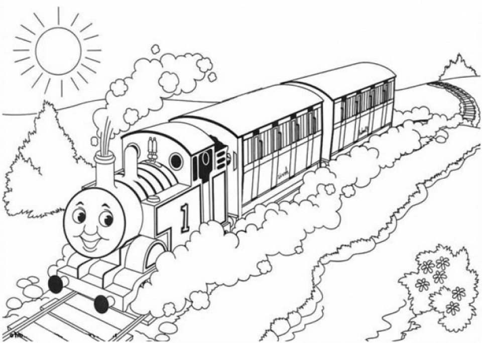 960x683 Good Thomas Train Coloring Pages 59 In Oloring Free