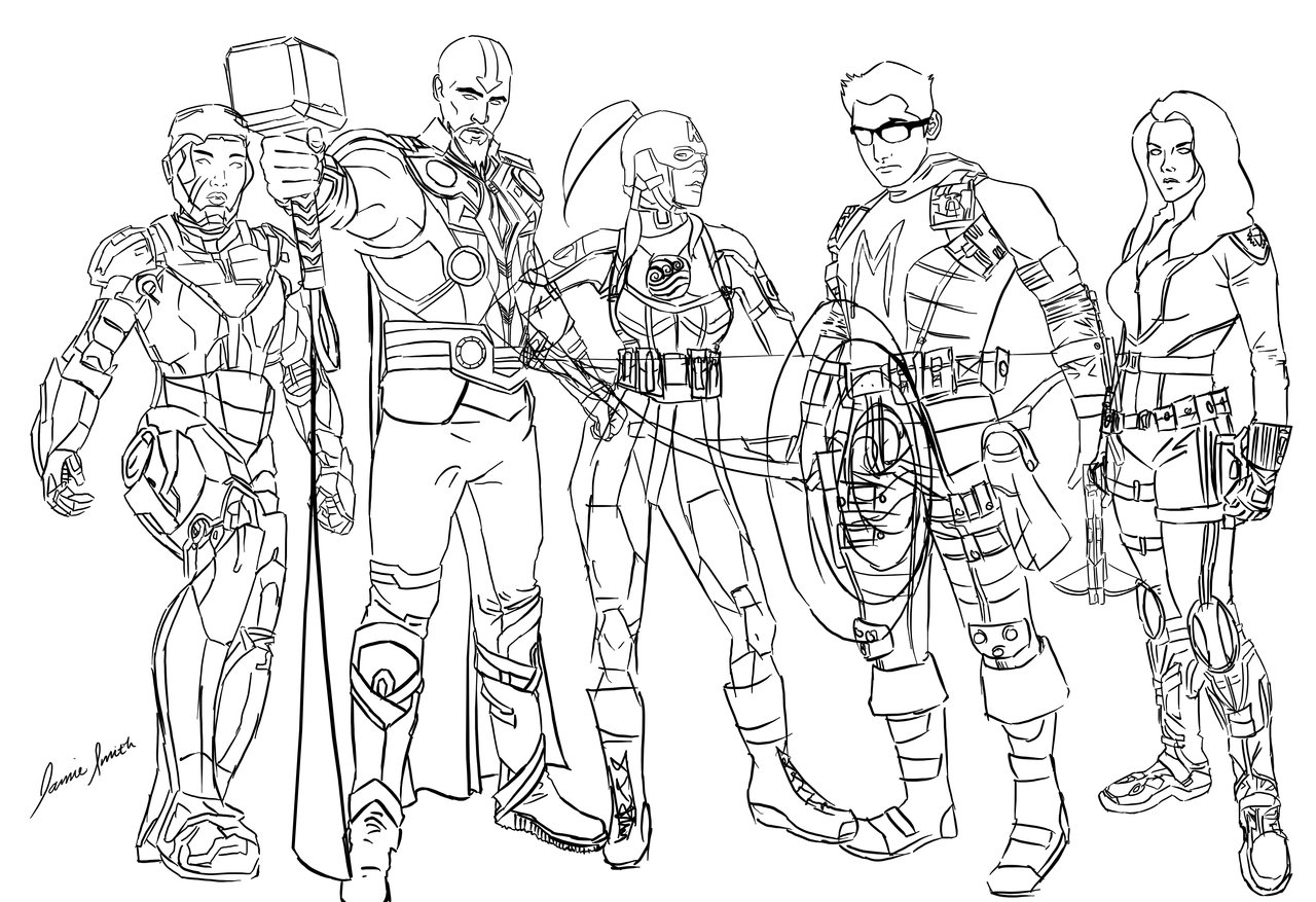 1280x877 Bender Avengers Sketch By Ofpink