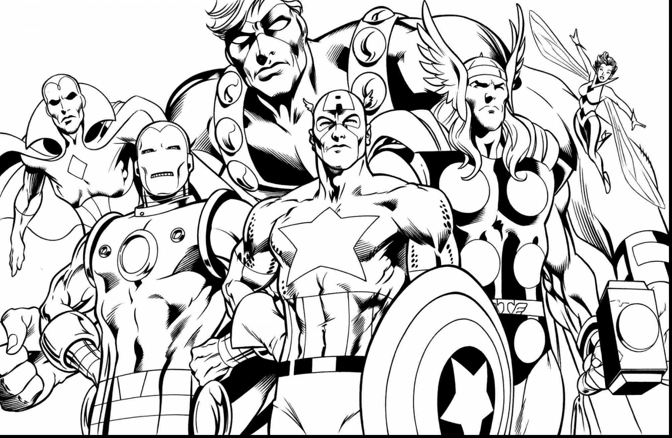 graphic regarding Avengers Printable Coloring Pages known as Thor Avengers Drawing at  Cost-free for person