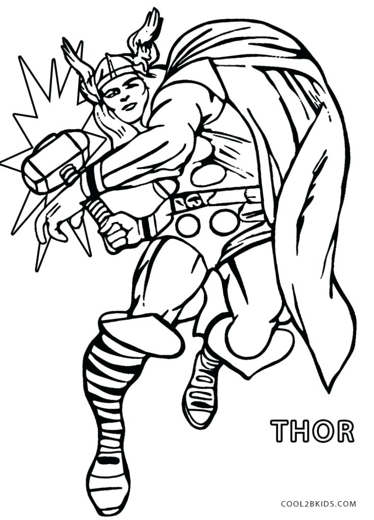736x1024 Coloring Pages Thor Hammer Coloring Pages Marvel Books To Print