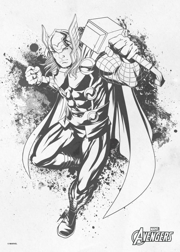 600x840 Marvel Thor Metal Poster