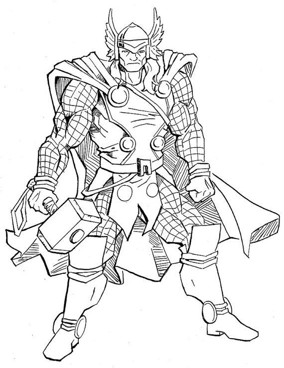 570x739 Original Marvel Thor Comic Art Sketch Thor By Atelierlambert