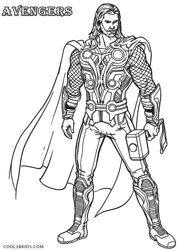 620x824 Printable Thor Coloring Pages For Kids Cool2bkids Line Art