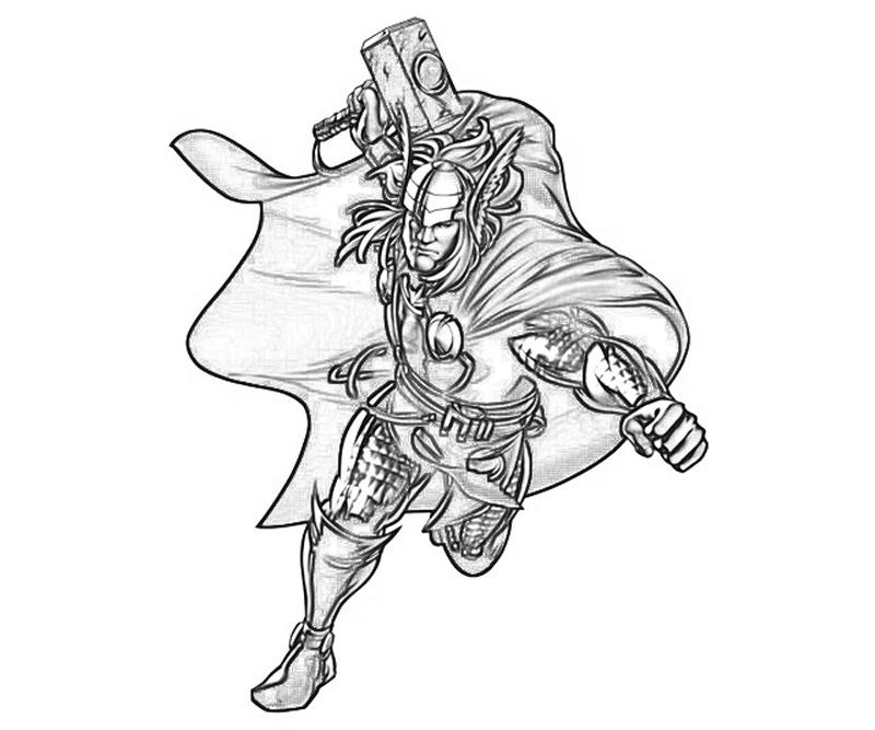 Thor Avengers Drawing At Getdrawings Com Free For Personal Use
