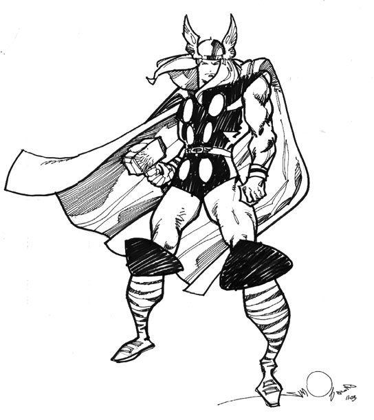 20 Free Printable Thor Coloring Pages: Thor Avengers Drawing At GetDrawings.com