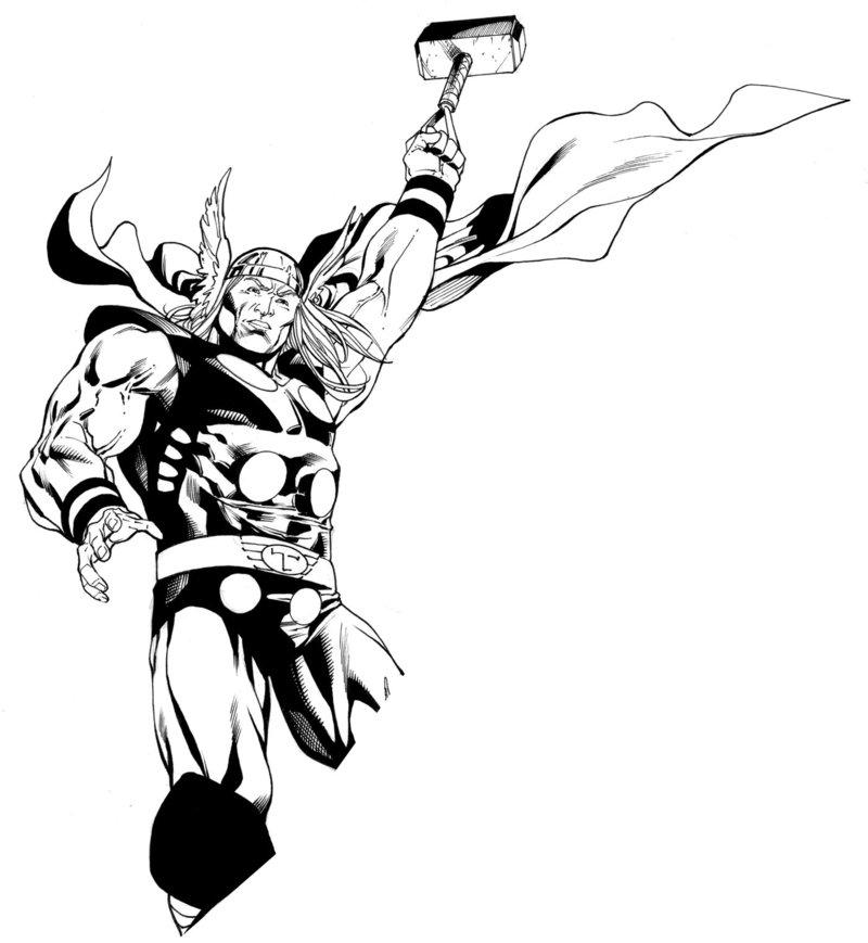 800x869 Avengers April Thor Inks Sotd By Robertatkins