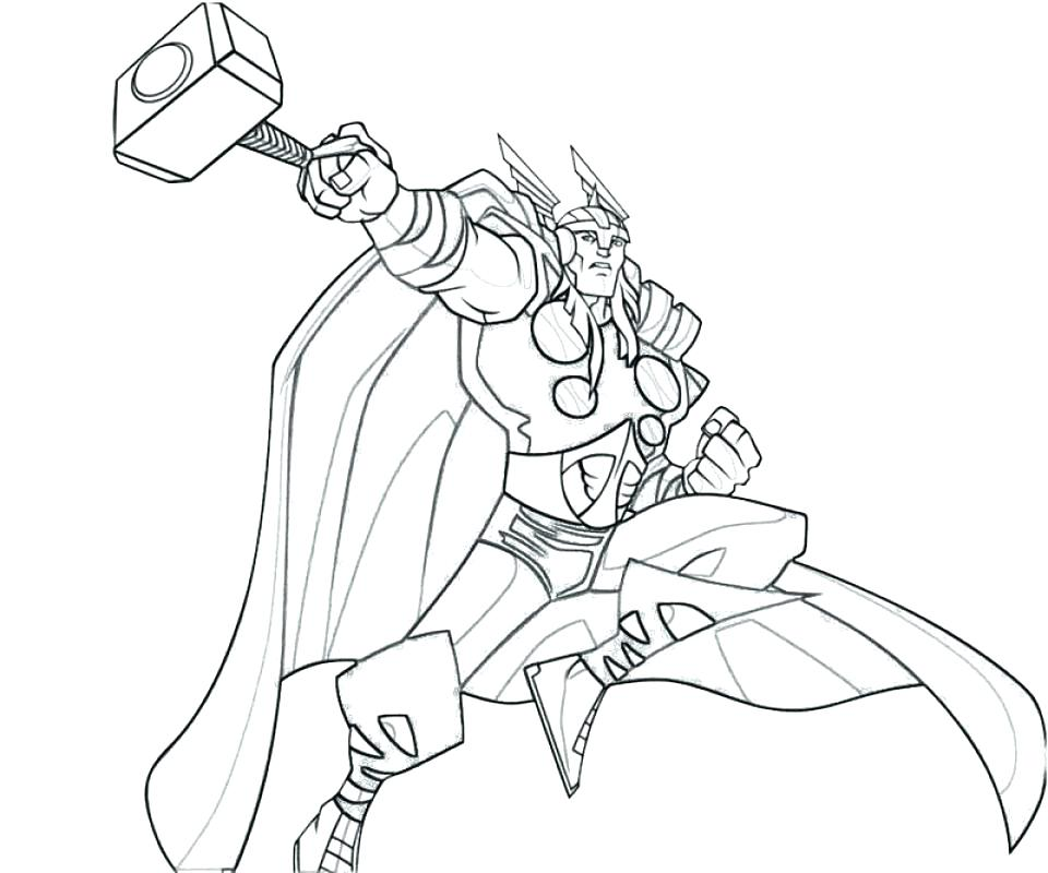 Thor Avengers Drawing at GetDrawings | Free download