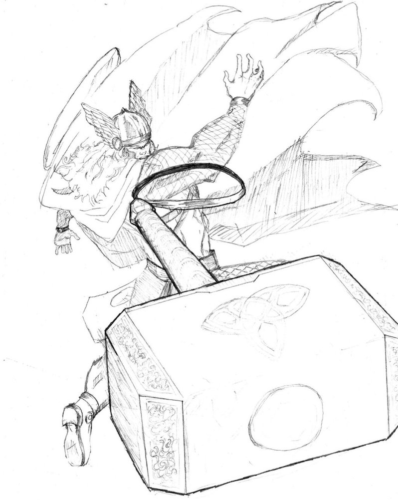 798x1002 Thor Hammer Toss By Bombadere